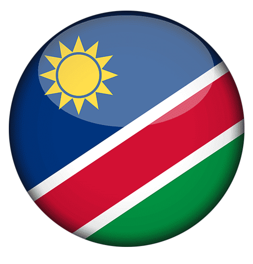This image has an empty alt attribute; its file name is Namibian-Flag.png